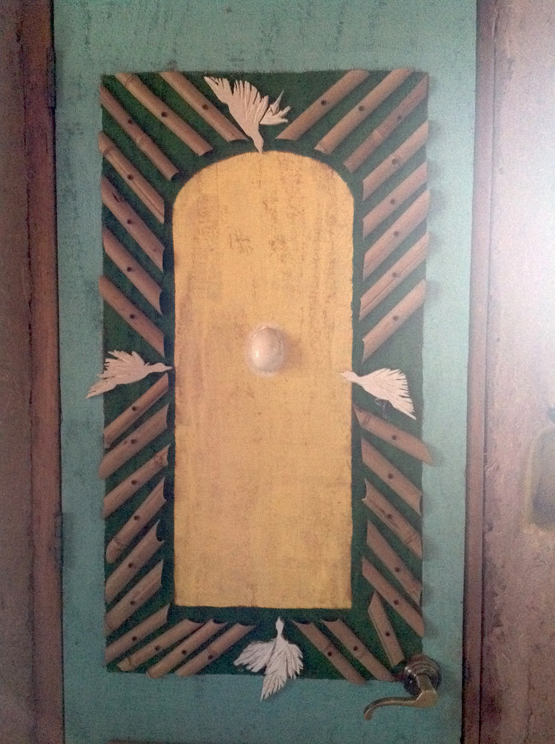 Virgin of Guadalupe door detail