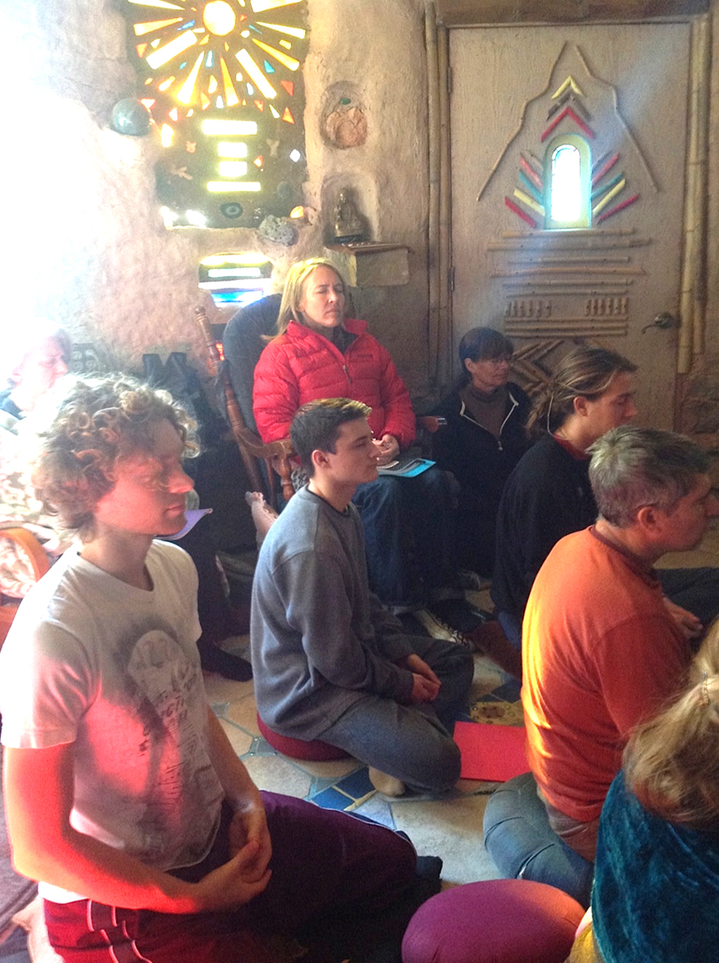 Cob Castle Retreat Meditators