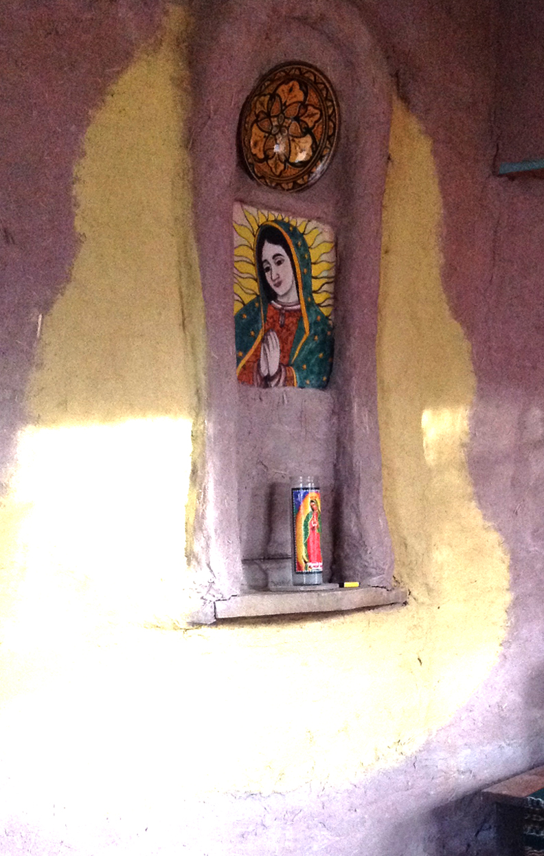 Virgin of Guadalupe wall detail