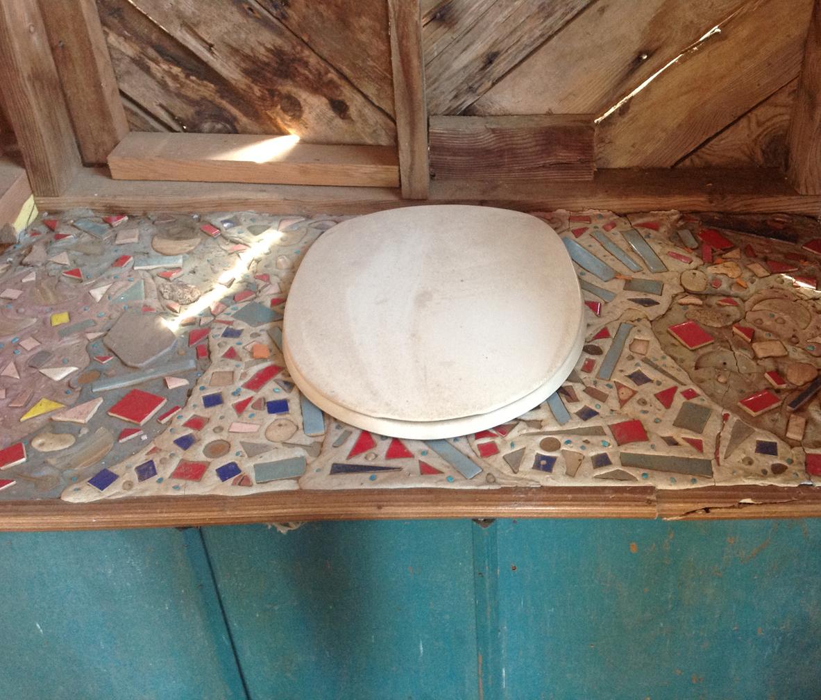 Tree Top composter toilet  inside tile details