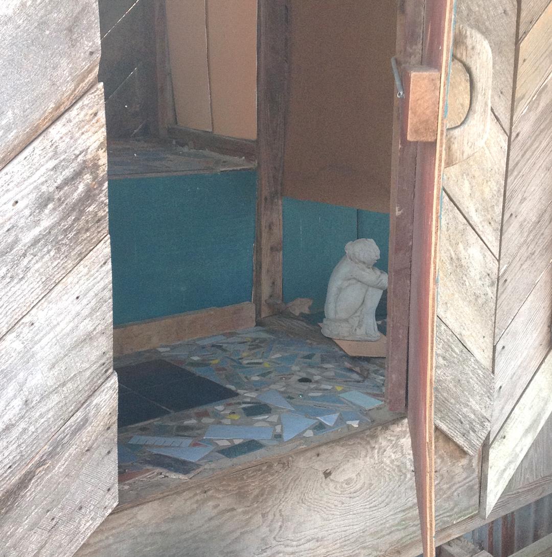 door to Tree Top composter toilet