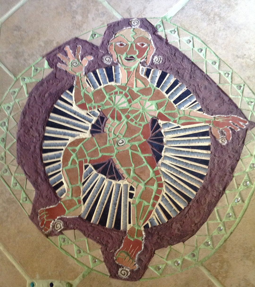 Ferocious Mother floor tile