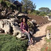 Joy at botanical garden