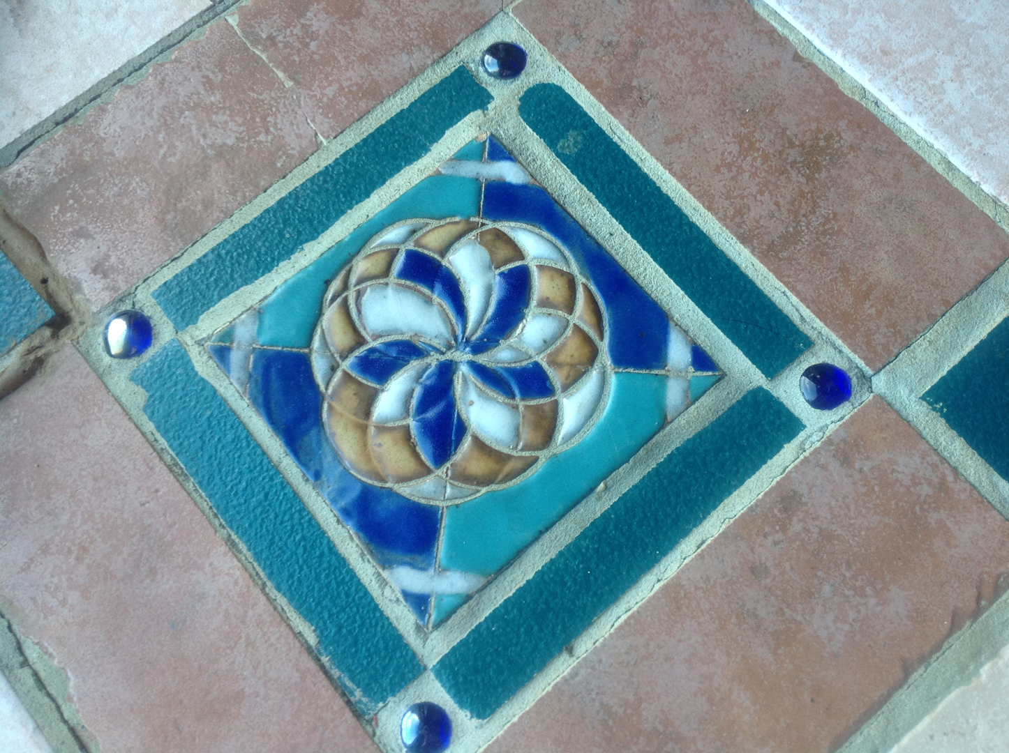 Main Hall tile detail